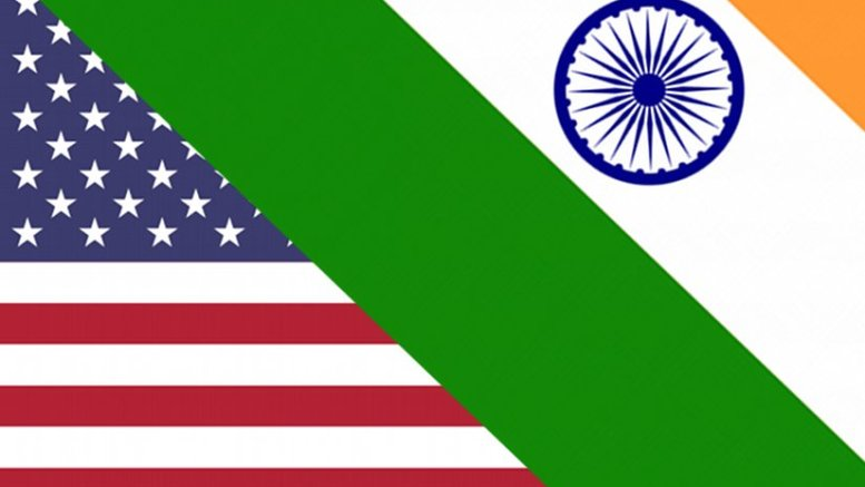 Flags of India and United States