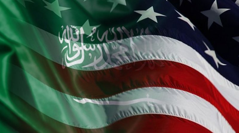 Flags of Saudi Arabia and United States