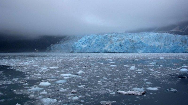 Glacier melting in Prince William Sound, Alaska.