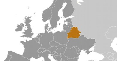 Location of Belarus. Source: CIA World Factbook.