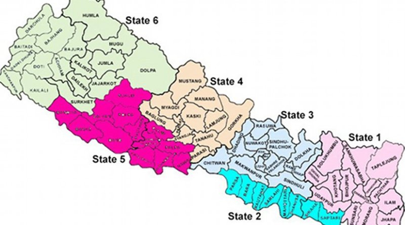 Map of Nepal. Source: IDSA