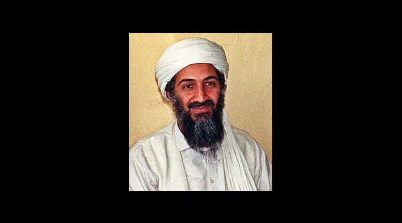 Osama bin Laden. Photo by Hamid Mir, Wikipedia Commons.