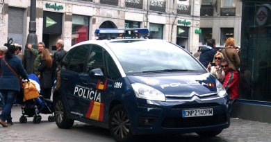 Spain's National Police. File photo by Kevin.B, Wikipedia Commons.