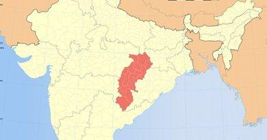 Location of Chhattisgarh in India. Source: WIkipedia Commons.