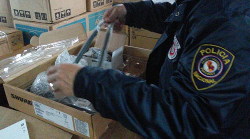 Police and customs officers across South America, including in Paraguay, took part in Operation Jupiter VII aimed at disrupting the organized crime networks behind illicit trade and the production and distribution of counterfeit goods. Photo Credit: INTERPOL.
