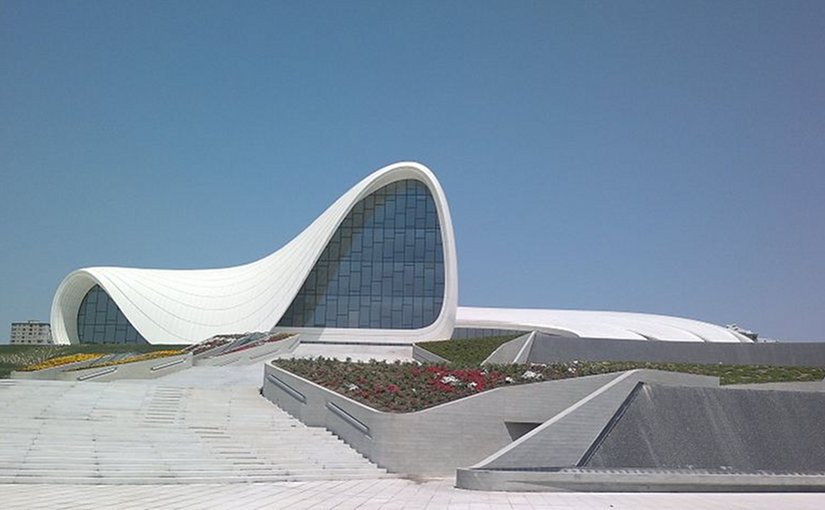 Heydar Aliyev Cultural Center in Baku, Azerbaijan. Source: Wikipedia Commons.