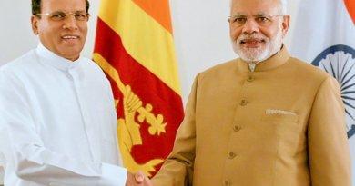 Sri Lanka's Maithripala Sirisena in New York to attend the 70th UN Summit meets with India's Narendra Modi. Photo Credit: Sri Lanka Government.