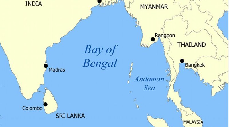 Bay of Bengal. Map created by Created by Norman Einstein, Wikipedia Commons.