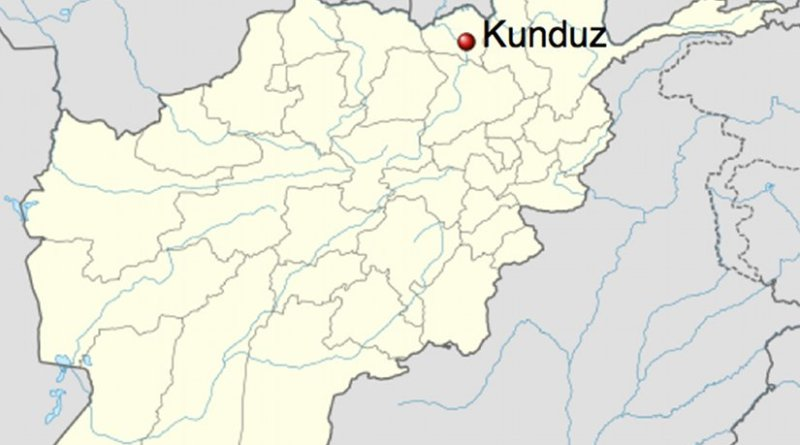Location of Kunduz in Afghanistan. Source: Wikipedia Commons.