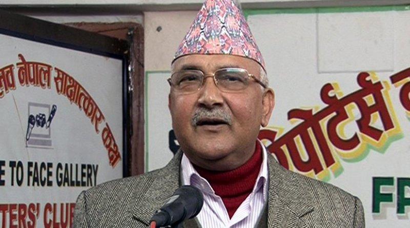 Nepal's KP Oli. Photo by Krish Dulal, Wikipedia Commons.