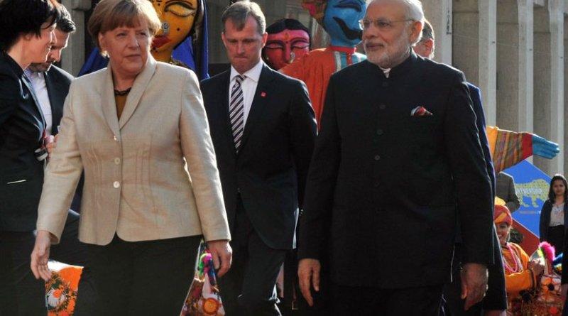 India's Prime Minister Narendra Modi and Germany's Chancellor Angela Merkel. Photo Credit: Narendra Modi, Wikipedia Commons.