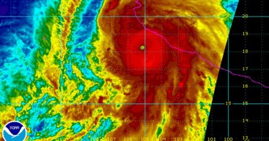 Hurricane Patricia landfall. Source: NOAA.
