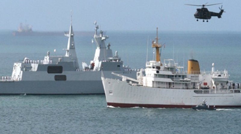 South Africa Navy showcasing its Frigate that is used to patrol the Mozambican Channel. Photo Credit: South Africa Navy.