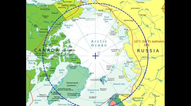 Arctic Circle. Source: CIA World Fact Book.