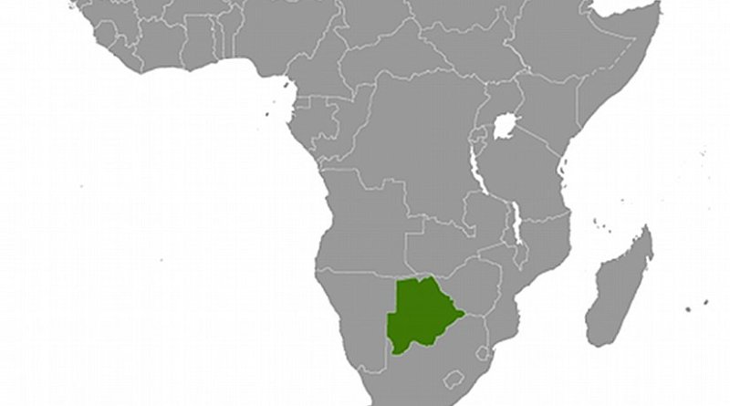 Location of Botswana. Source: CIA World Factbook.