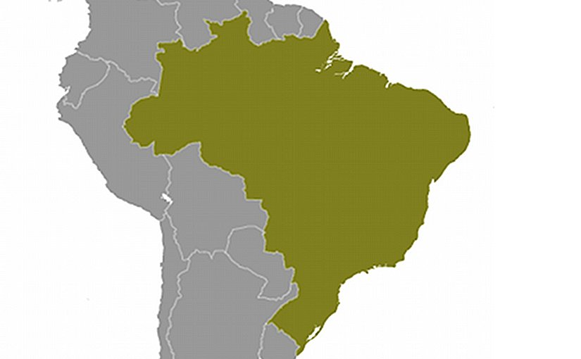 Location of Brazil. Source: CIA World Factbook.