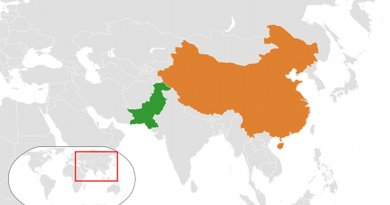 Locations of China and Pakistan. Source: Wikipedia Commons.