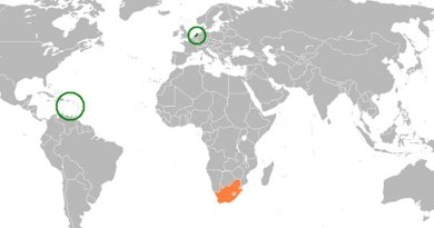 Locations of Netherlands and South Africa. Source: Wikipedia Commons.