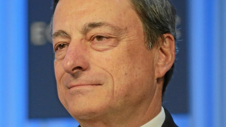 ECB President Mario Draghi. Photo by Photo Remy Steinegger, World Economic Forum, Wikipedia Commons.