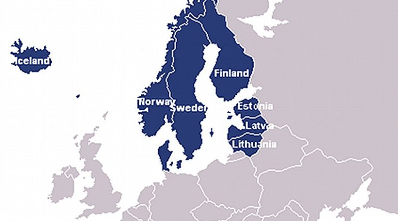 Member states of the Nordic-Baltic Eight. Source: Wikipedia Commons.