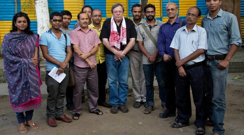 Bertil Lintner attends an interactive session with the media at Guwahati Press Club, India.
