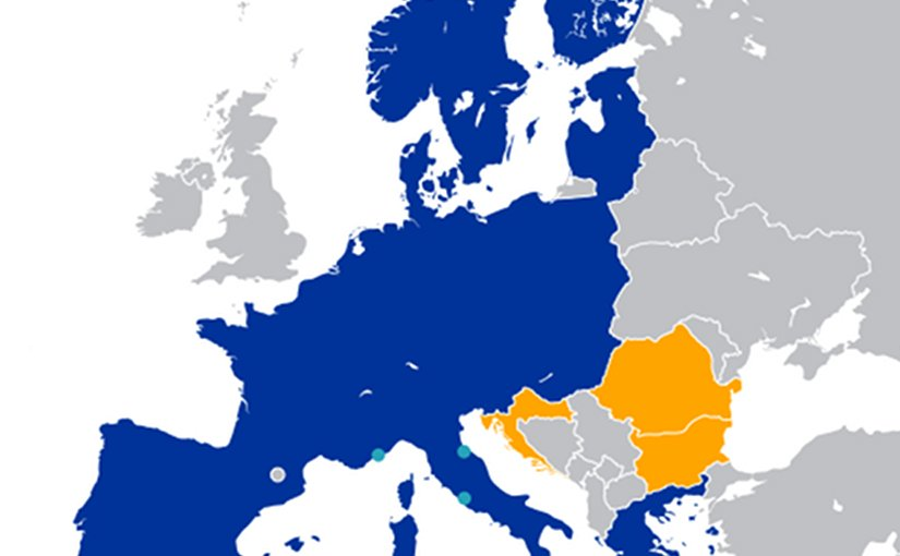 The Schengen Area. Source: Wikipedia Commons.