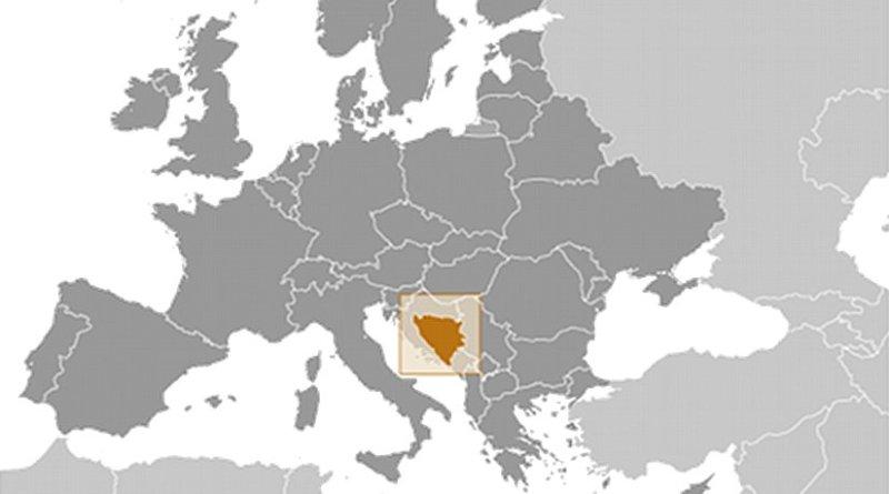 Bosnia and Herzegovina. Source: CIA World Factbook.