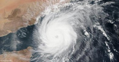 Cyclone Megh approaching Saudi Arabia and Yemen. Photo Credit: NOAA/NASA