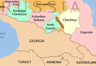 North Caucasus regions within the Russian Federation. Source: Wikipedia Commons.