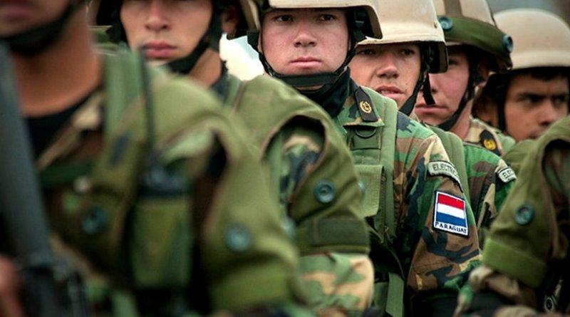 Paraguayan marines at Ancon Marine Base. Photo by Brien Aho, Wikipedia Commons.