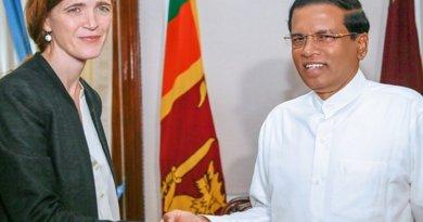 U.S. Permanent Representative to the United Nations Samantha Power meets Sri Lanka's President Maithripala Sirisena. Photo Credit: Sri Lanka Government.