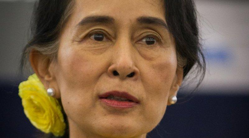 Burma's Aung San Suu Kyi. Photo by Claude TRUONG-NGOC, Wikipedia Commons.