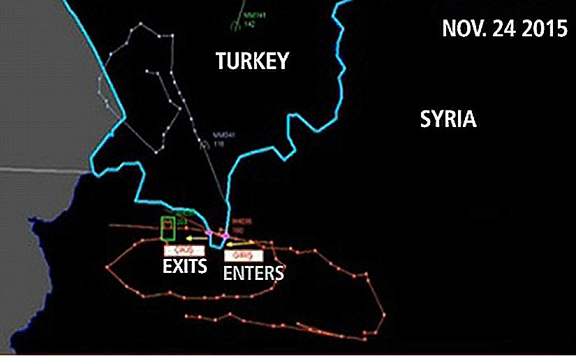 A map released by Turkey shows the flight path of the Russian jet.