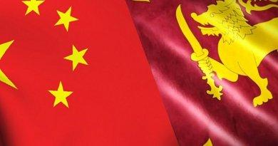China and Sri Lanka flags