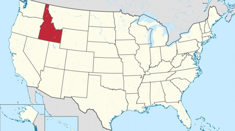 Location of Idaho. Source: Wikipedia Commons.