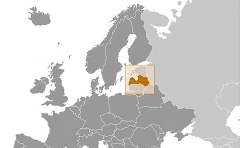 Location of Latvia. Source: CIA World Factbook.