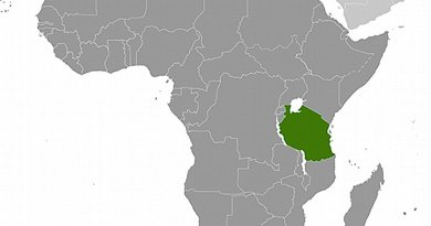 Location of Tanzania. Source: CIA World Factbook.