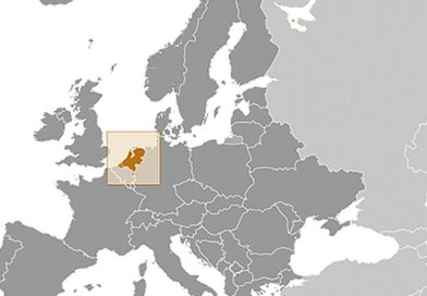 Location of the Netherlands. Source: CIA World Factbook.
