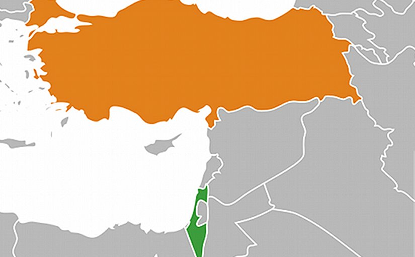 Locations of Israel and Turkey. Source: Wikipedia Commons.