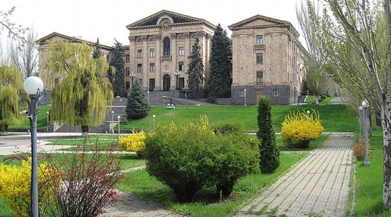 The National Assembly in Yerevan, Armenia. Photo by Kevorkmail, Wikipedia Commons.