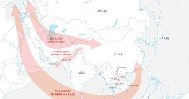 China's 'One Belt, One Road' initiative. Graphic Source: FPRI.