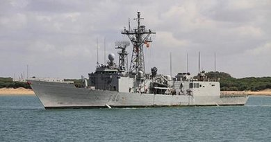 """File Photo of Spanish Navy frigate """"Canarias"""". Photo by MDE, Armada"""