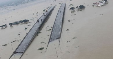 Submerged bridges in Chennai, Tamil Nadu, India. Photo Credit: Indian Air Force, Wikipedia Commons.