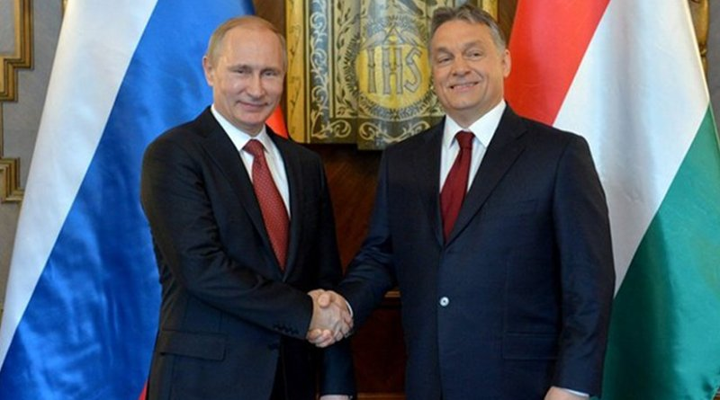 Russian President Vladimir Putin and Hungarian Prime Minister Viktor Orbán. Photo by Kremlin.ru, Wikipedia Commons.