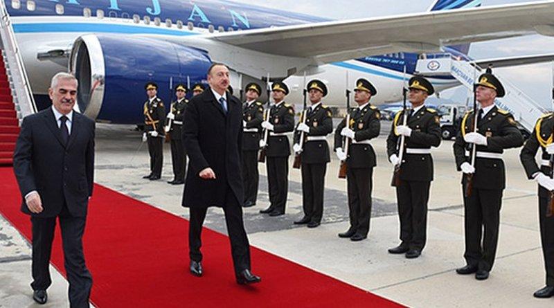 President of Azerbaijan Ilham Aliyev arrived in the Nakhchivan Autonomous Republic. Photo Credit: Azerbaijan President's Office.