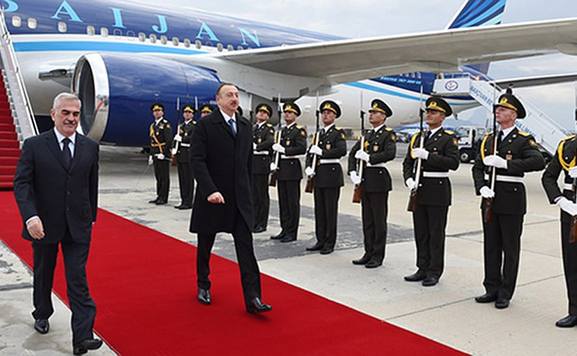 President of Azerbaijan Ilham Aliyev arrived in the Nakhchivan Autonomous Republic. Photo Credit: Azerbaijan President's Office.