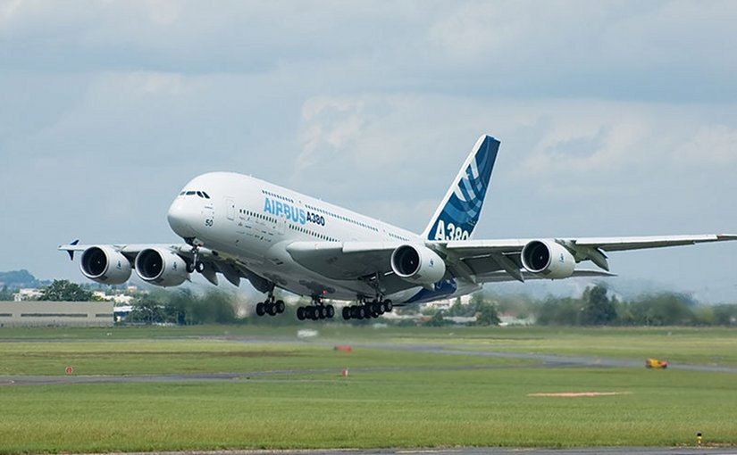 Airbus A380, the largest passenger jet in the world. Photo by Dmitry A. Mottl, Wikipedia Commons.
