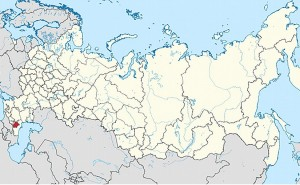 Location of Chechnya in Russia. Source: Wikipedia Commons.