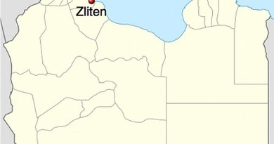 Location of Zliten in Libya. Source: Wikipedia Commons.