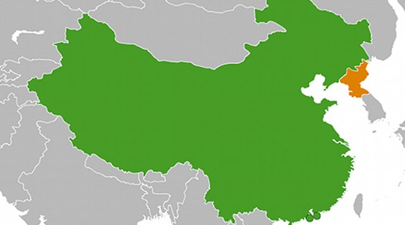 Locations of China and North Korea. Source: Wikipedia Commons.